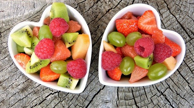 A bowl of fruit on a plate